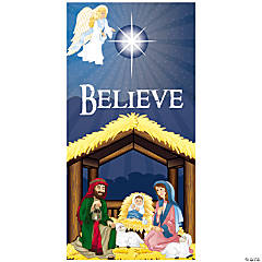 "Nativity ""Believe"" Door Cover"
