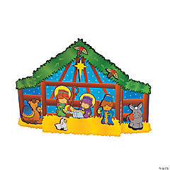 Nativity Cards with Stickers