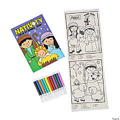 Nativity Color By Number Sets