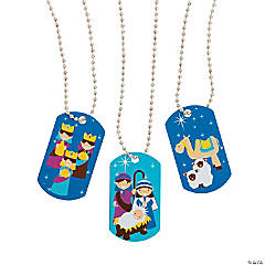 Nativity Dog Tag Necklaces