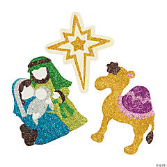 Nativity Glitter Art Craft Kit