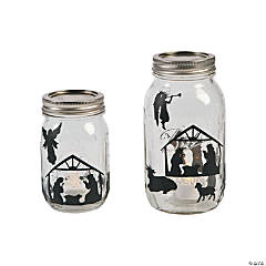 Nativity Mason Jar Decals