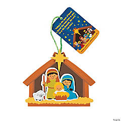 Nativity Ornaments with Card Craft Kit