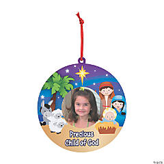 Nativity Photo Card Ornaments