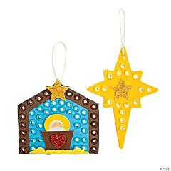Nativity Scene & Star Ornament Craft Kit