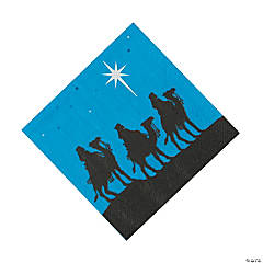 Nativity Silhouette Beverage Napkins