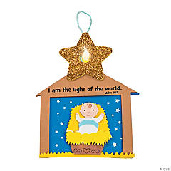 Nativity Star Tea Light Ornament Craft Kit