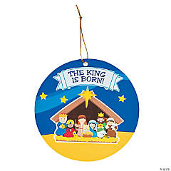 Nativity Sticker Scene Ornaments