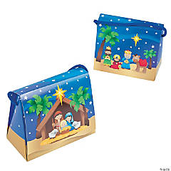 Nativity Tent Favor Boxes with Handles