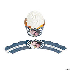 Nautical Custom Photo Cupcake Wrappers