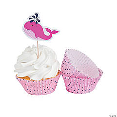 Nautical Girl Cupcake Liners with Picks