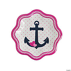 Nautical Girl Dessert Plates