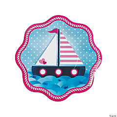 Nautical Girl Paper Dinner Plates