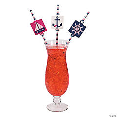 Nautical Girl Paper Straws