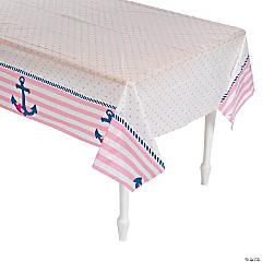 Nautical Girl Plastic Tablecloth