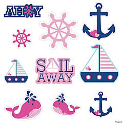 Nautical Girl Wall Cutouts