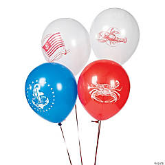Nautical Latex Balloons