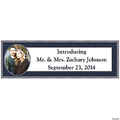 Nautical Wedding Medium Custom Photo Banner