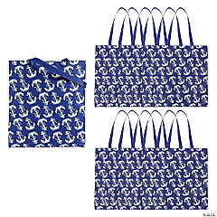 Navy Anchor Tote Bags
