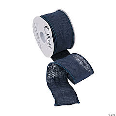 Navy Blue Burlap Ribbon - 2 1/2