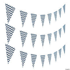 Navy Blue Chevron Pennant Banner
