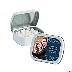 Navy Blue Custom Photo Mint Tins