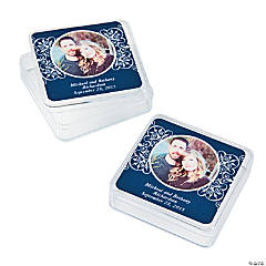 Navy Blue Custom Photo Square Containers