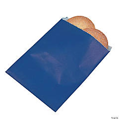 Navy Blue Parchment Treat Bags