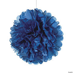 Navy Blue Tissue Paper Pom-Pom Decorations