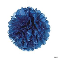 Navy Blue Tissue Paper Pom-Pom Decorations