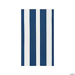 Navy Striped Dinner Napkins