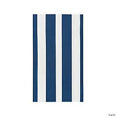 Navy Striped Dinner Napkins