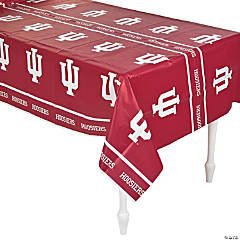 NCAA® Indiana University Plastic Tablecloth