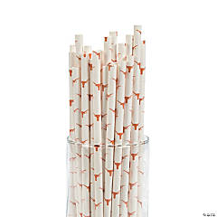 NCAA™ University of Texas® Paper Straws