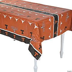 NCAA™ University of Texas Plastic Tablecloth