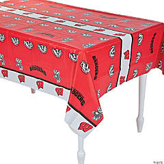 NCAA™ University of Wisconsin Plastic Tablecloth