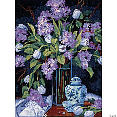 Needlepoint Kit -Tulips & Lilacs