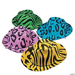 Neon Animal Print Cowboy Hats