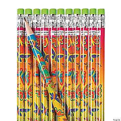 Neon Butterfly Pencils