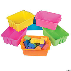 Neon Classroom Storage Tubs