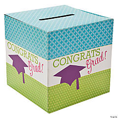 "Neon ""Congrats Grad"" Card Box"