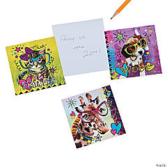 Neon Fun Fashion Animal Notepads