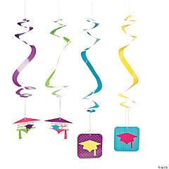 Neon Grad Hanging Swirls
