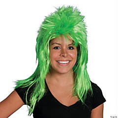 Neon Green Mullet Wig
