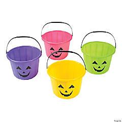 Neon Jack-O'-Lantern Trick-or-Treat Buckets