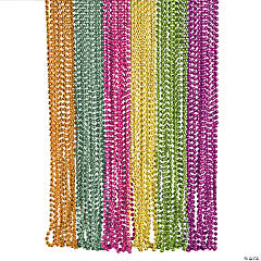 Neon Metallic Bead Necklaces
