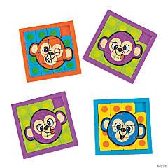 Neon Monkey Slide Puzzles