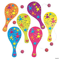 Neon Paddle Ball Games