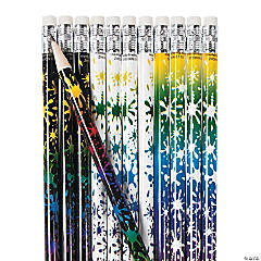 Neon Paint Splatter Pencils