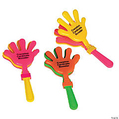 Neon Personalized Hand Clappers